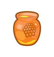 Honey jar vector image