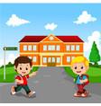 little boy going to school vector image
