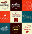 Merry christmas labels 3 vector image