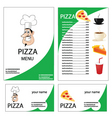 pizza menu vector image