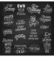 slogans chalkboard abstract ok vector image