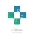 Medical logotype design element or icon for the vector image
