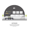 Interior Design Template vector image