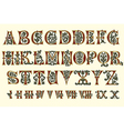 Alphabet Medieval and Roman numerals vector image