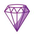 diamond icon image vector image
