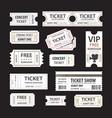 old cinema tickets for cinema eps10 vector image