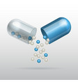 Opening Medical blue capsule vector image