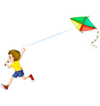 Boy and kite vector image