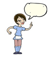 cartoon waitress taking order with speech bubble vector image
