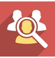 Search Patient Flat Longshadow Square Icon vector image