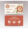 vintage female template business card Perfect for vector image