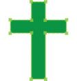 green cross vector image vector image