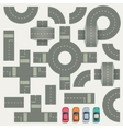Highway road construction map top view vector image