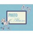 Baby photo album cover vector image