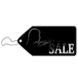 Black label with the word Sale vector image