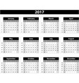 Calendar 2017 on white background vector image