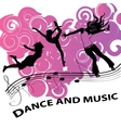 Dance and music vector image