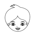 front face kid silhouette with crest vector image