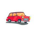 icon of red retro two-door station wagon vector image