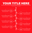 infographics elements eight steps vector image