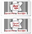 Sale Design on torn barcode vector image