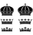 Set of crowns stencils vector image