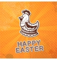 Easter card concept vector image