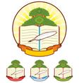 Book Tree Emblem vector image vector image