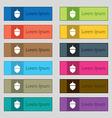 Acorn icon sign Set of twelve rectangular colorful vector image