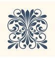 Ornamental floral element for design vector image vector image