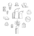 Environment and ecological conservation sketch vector image vector image