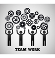Teamwork and gears design vector image