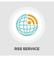 RSS flat icon vector image