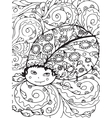Adult coloring page design with Bug vector image