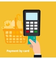 Credit card online payment vector image