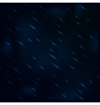 Drizzling rain at night with hazy blue sky vector image