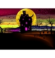 grungy halloween with haunted house eps 8 vector image