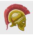 Icon historical knights helmet in flat style vector image