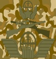 Military Logo Sniper vector image
