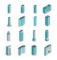 Modern Buildings Isometric Set vector image