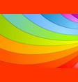 Rainbow waves background vector image