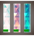 set of faded banners with triangles vector image