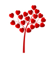 tree with hearts on a white background vector image