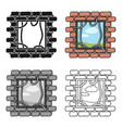 prison escape icon in cartoon style isolated on vector image