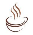 Doodle sketch cup of steaming hot beverage vector image vector image