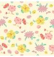 Painterly Pink Yellow Kimono Flowers vector image