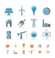 energy and electricity icons vector image