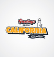 california vacation greetings theme vector image