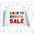 Back to School Sale curved banner vector image