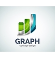 Graph logo template vector image